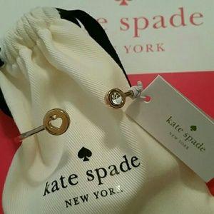 Kate Spade Open Hinge Bracelet Rose Gold Crystal